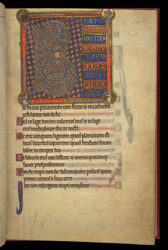 Beatus Page, In A Psalter Preceded By Miniatures And A Calendar